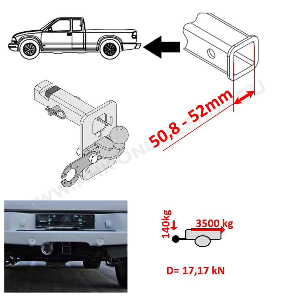 Heavy Duty Towbar Adapter 2 inch Cadilac Escalade III SUV 2007-2014