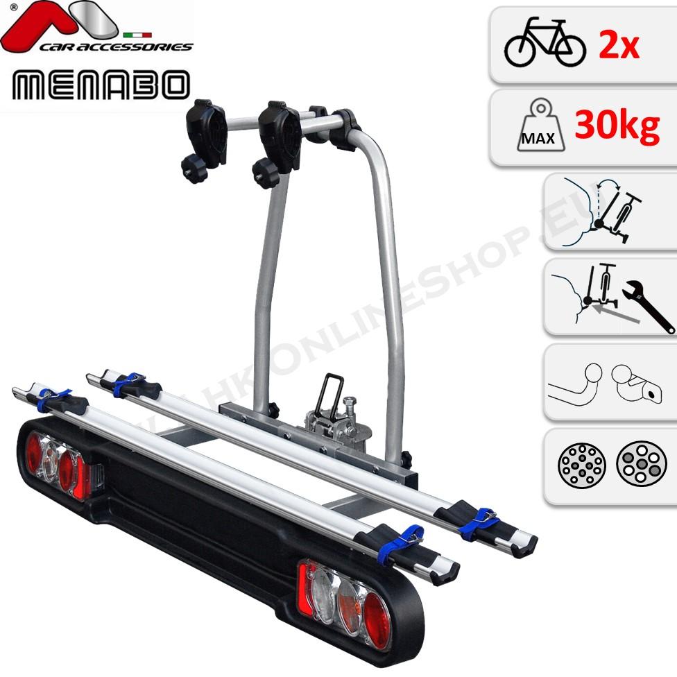 Fahrradträger Anhängerkupplung 2 Fahrräder Heckträger abschließbar eBike AHIRO2