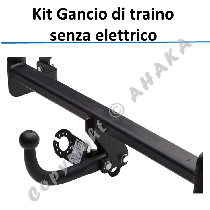 Gancio di traino estraibile Fiat Panda 312 dal 2012 kit elettrico spec 13poli