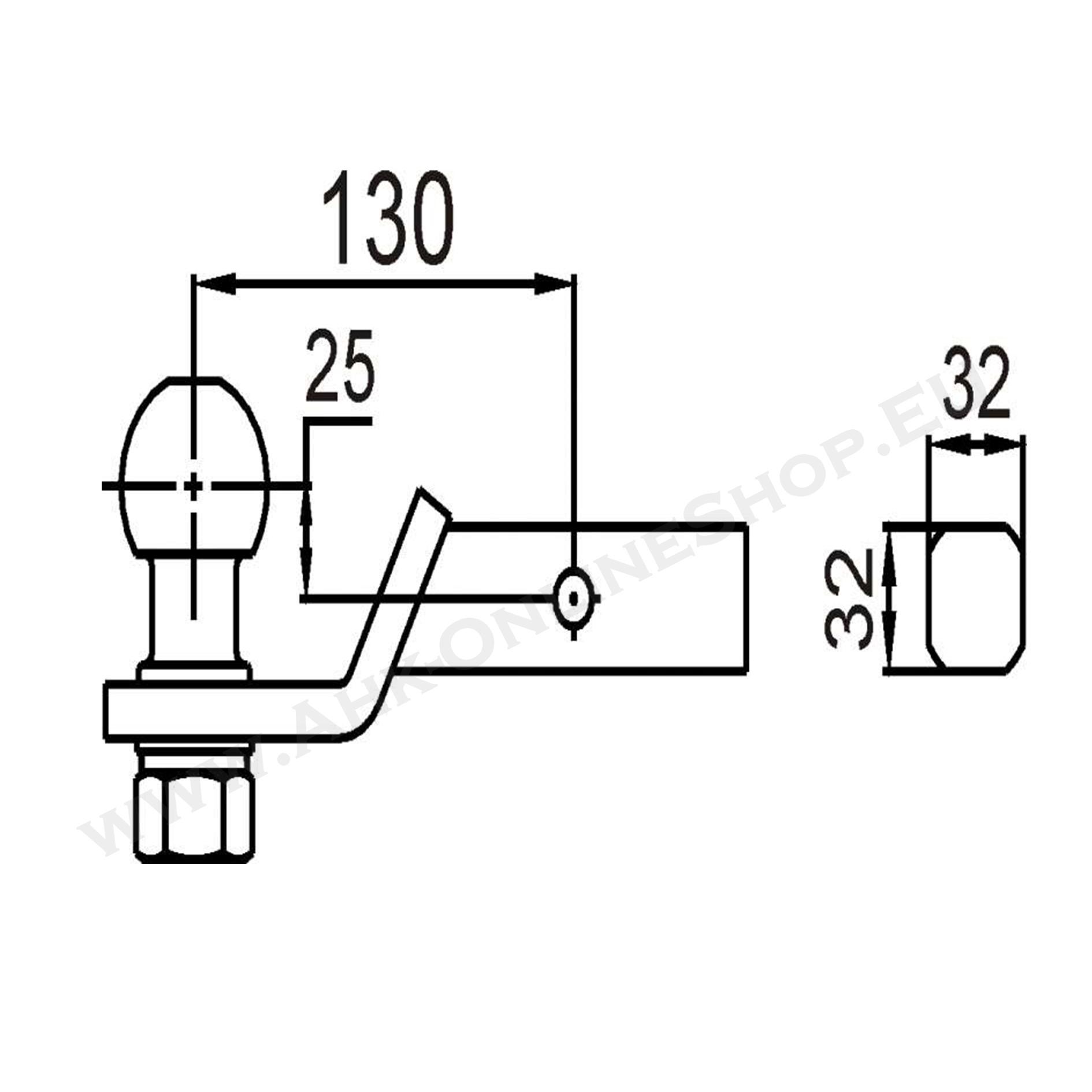 Anhängerkupplung 1-1//4 inch Receiver 32x32 mm AHK Einschub US Fahrzeuge Adapter
