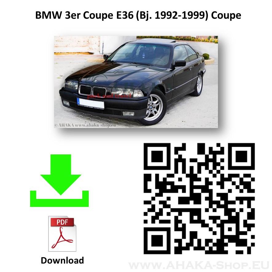 Anhängerkupplung für BMW Serie 3 E36 Stufenheck, Limousine, Touring, Coupe, Cabriolet Bj. ab 1990 - 1999 - günstig online kaufen