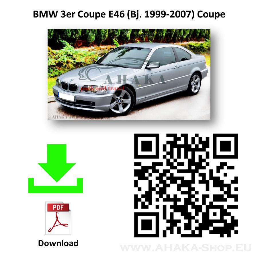 Anhängerkupplung für BMW Serie 3 E46 Stufenheck, Limousine, Touring, Kombi, Compact, Coupe, Cabriolet Bj. 1998 - 2005 - günstig online kaufen