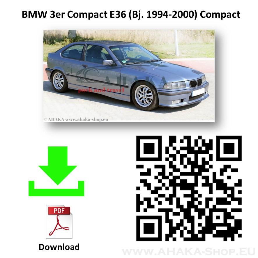 Anhängerkupplung für BMW Serie 3 E36 Compact Schrägheck Bj. ab 1994 - 2001 - günstig online kaufen