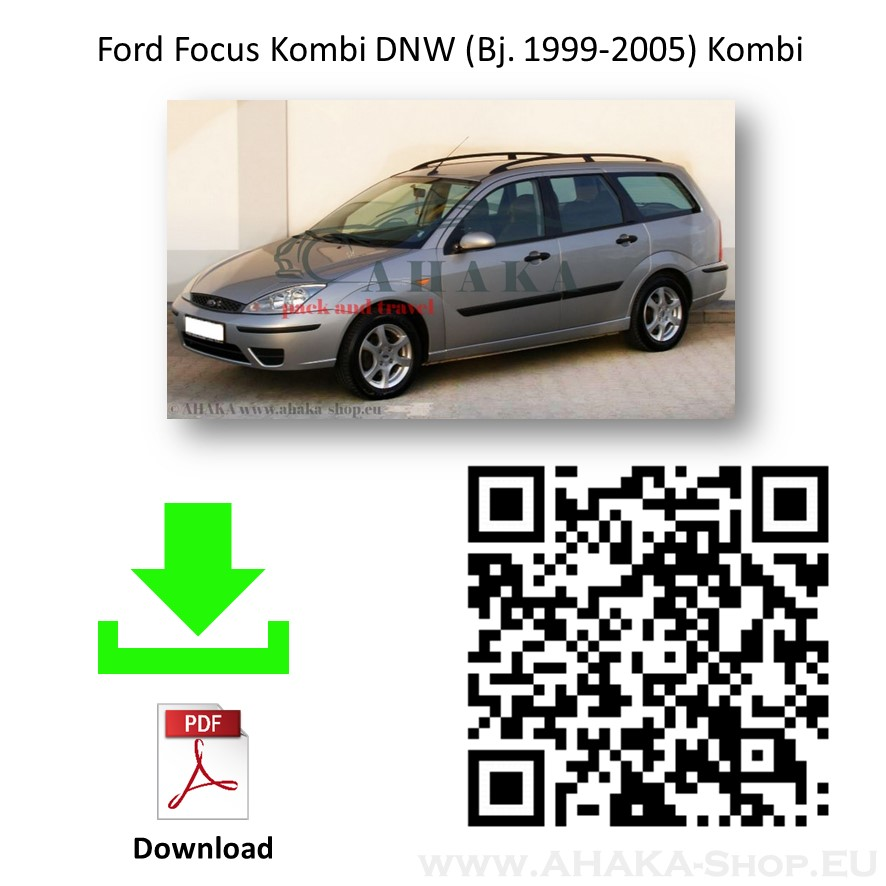 Anhängerkupplung für Ford Focus I Turnier Kombi Bj. 1999 - 2005 - günstig online kaufen