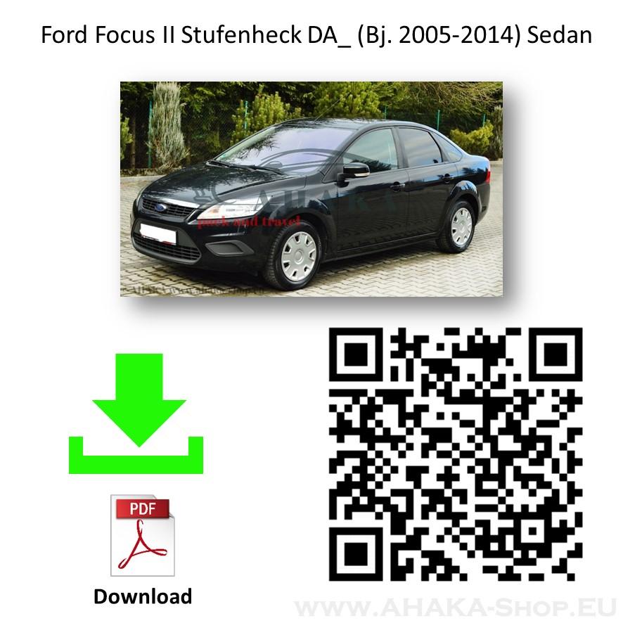 Anhängerkupplung für Ford Focus II Stufenheck Bj. 2005 - 2011 - günstig online kaufen