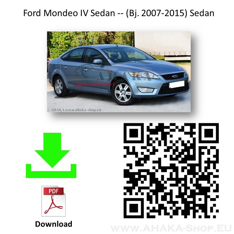 Anhängerkupplung für Ford Mondeo Schrägheck, Stufenheck, Turnier, Kombi Bj. 2007 - 2014 - günstig online kaufen