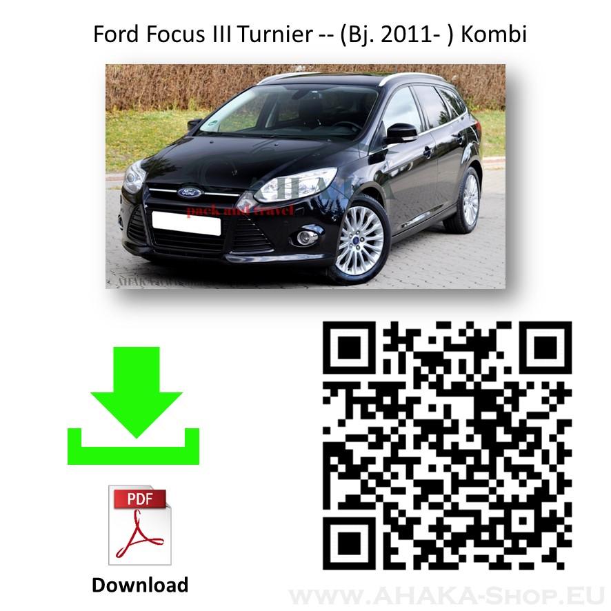 Anhängerkupplung für Ford Focus III Turnier Kombi Bj. 2011 - 2017 - günstig online kaufen