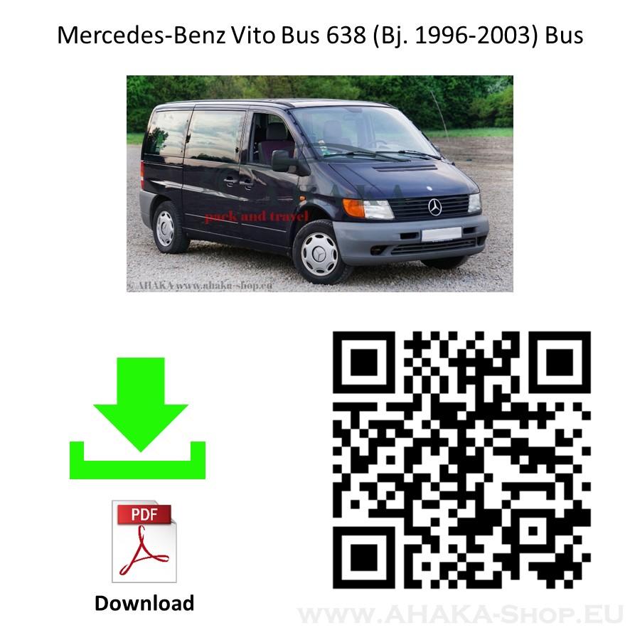 Anhängerkupplung für MB Mercedes Benz Vito W638 Bj. 1996 - 2003 - günstig online kaufen