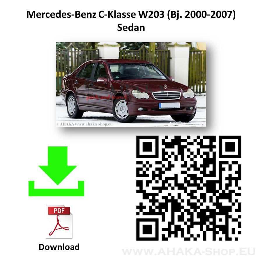 Anhängerkupplung für MB Mercedes Benz C Klasse W203 Stufenheck / S203 Kombi Bj. 2000 - 2007 - günstig online kaufen