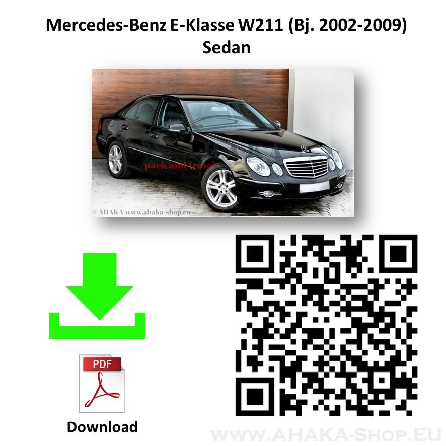 Anhängerkupplung für MB MERCEDES BENZ E Klasse W211 Stufenheck Bj. ab 2002 - 2009 - günstig online kaufen
