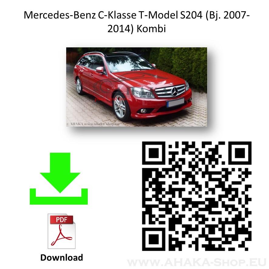Anhängerkupplung für MB Mercedes Benz C Klasse S204 Kombi / W204 Stufenheck Bj. 2007 - 2014 - günstig online kaufen