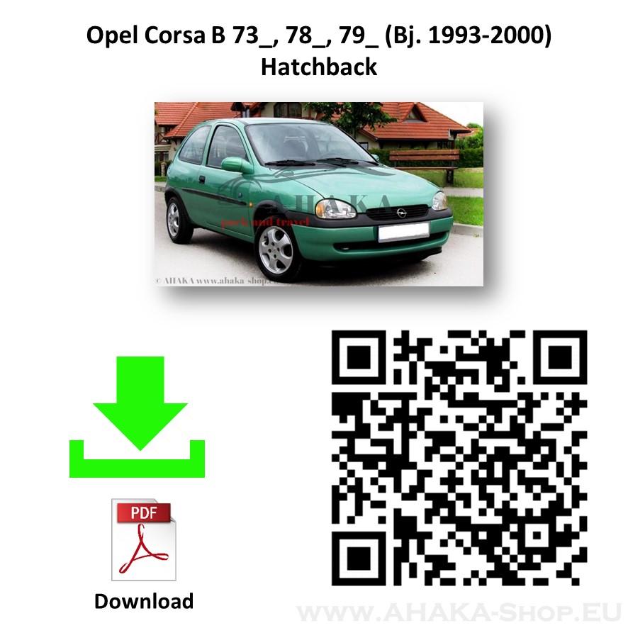 Anhängerkupplung für Opel Corsa B Schrägheck Bj. 1993 - 2000 - günstig online kaufen