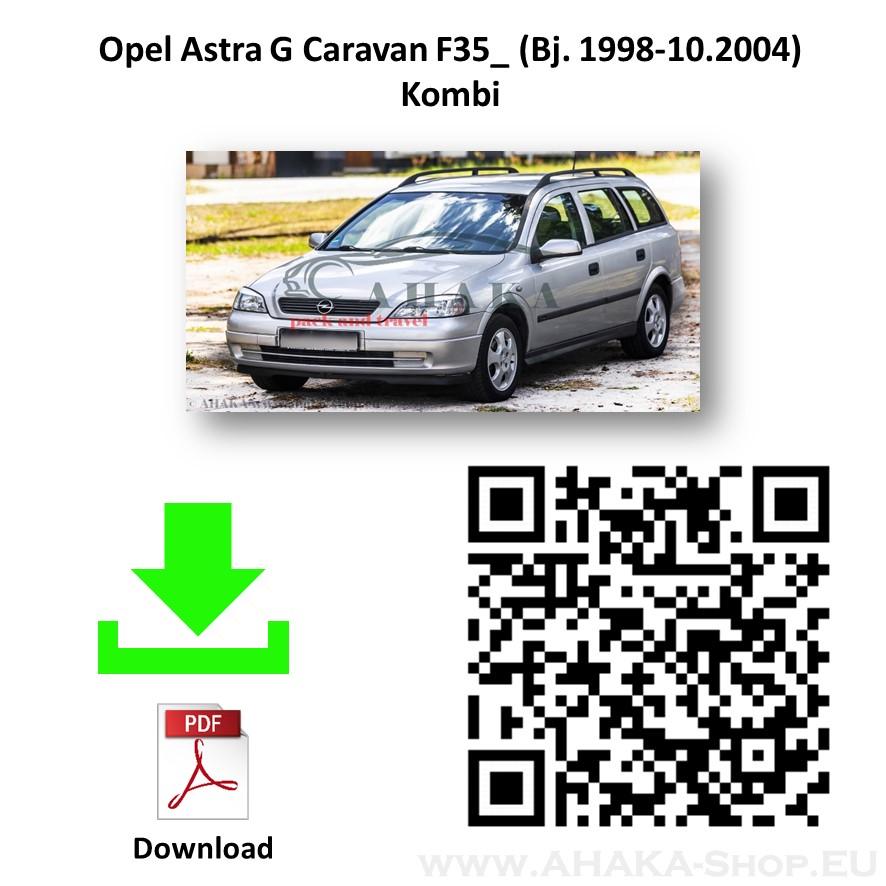 Anhängerkupplung für Opel Astra G Caravan Kombi Bj. 1998 - 2009 - günstig online kaufen