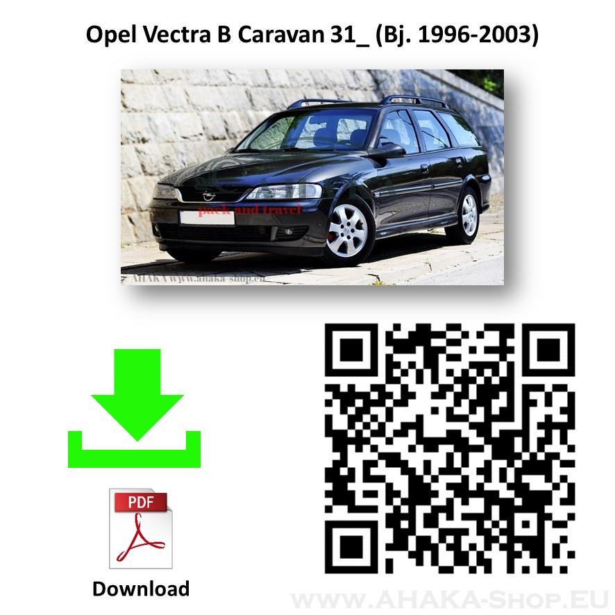 Anhängerkupplung für Opel Vectra B Caravan Kombi Bj. 1996 - 2003 - günstig online kaufen