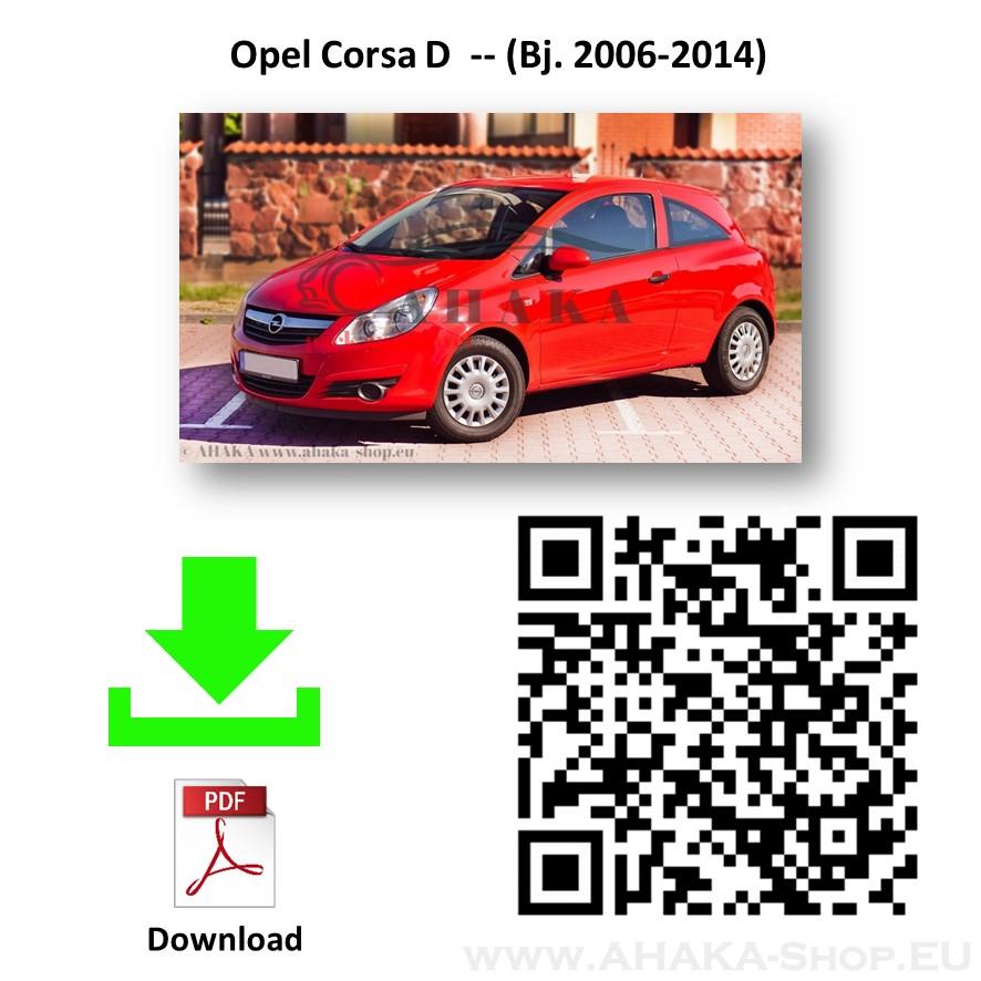 Anhängerkupplung für Opel Corsa D Schrägheck Bj. 2006 - 2014 - günstig online kaufen