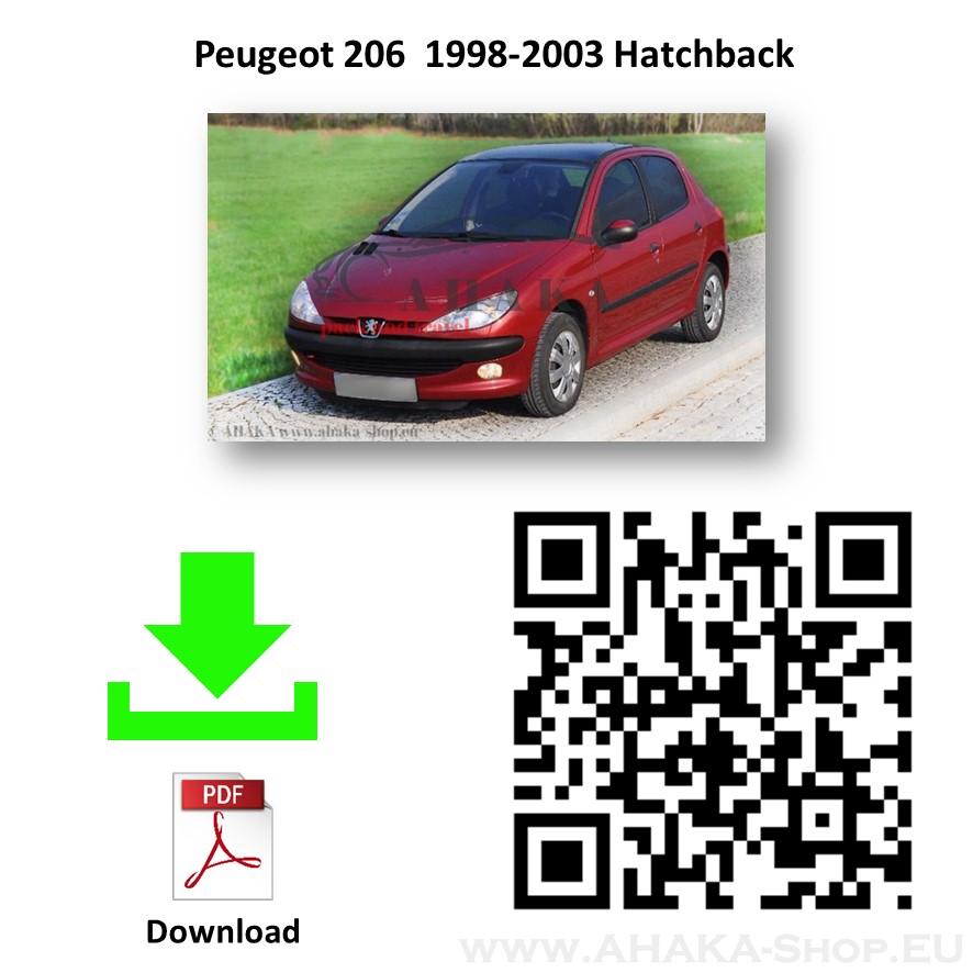 Anhängerkupplung für Peugeot 206 Schrägheck Bj. 1998 - 2003 - günstig online kaufen