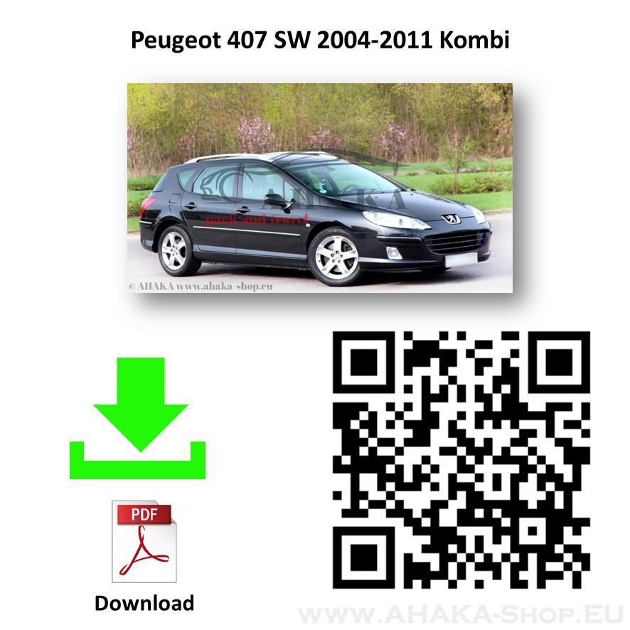 Anhängerkupplung für Peugeot 407 Break, SW Kombi Bj. 2004 - 2008 - günstig online kaufen