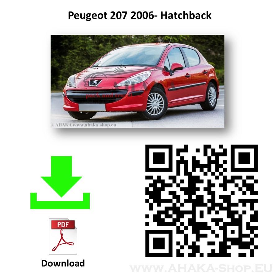 Anhängerkupplung für Peugeot 207 Schrägheck Bj. ab 2006 - günstig online kaufen