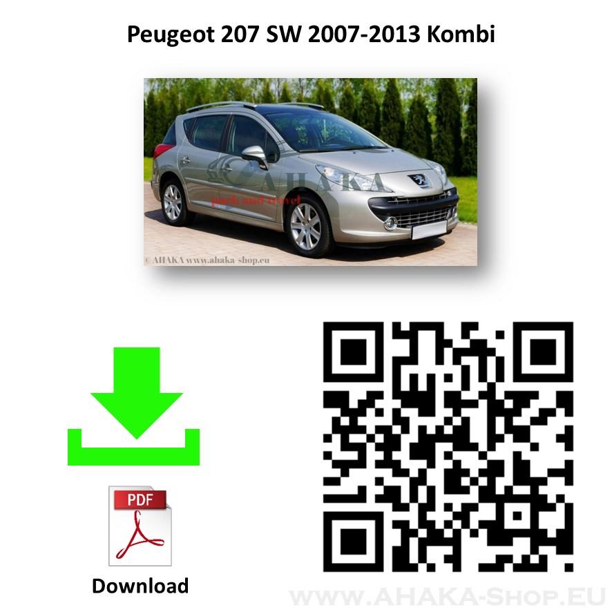 Anhängerkupplung für Peugeot 207 SW Kombi Bj. ab 2007 - günstig online kaufen