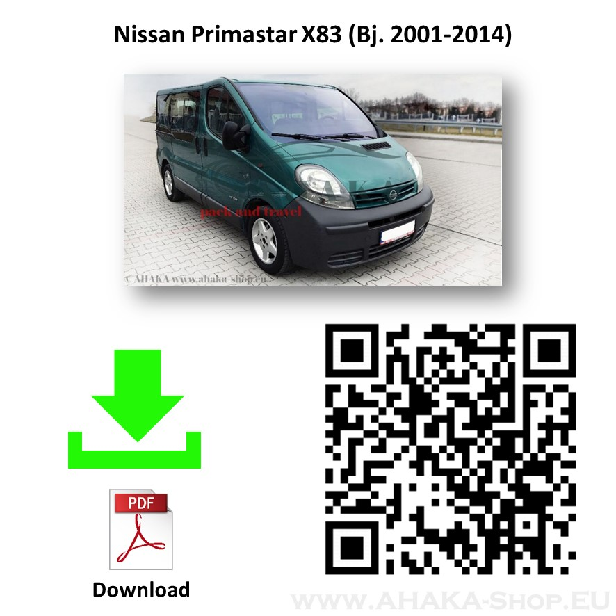 Anhängerkupplung für Nissan Primastar Bus, Kasten Bj. 2001 - 2014 - günstig online kaufen