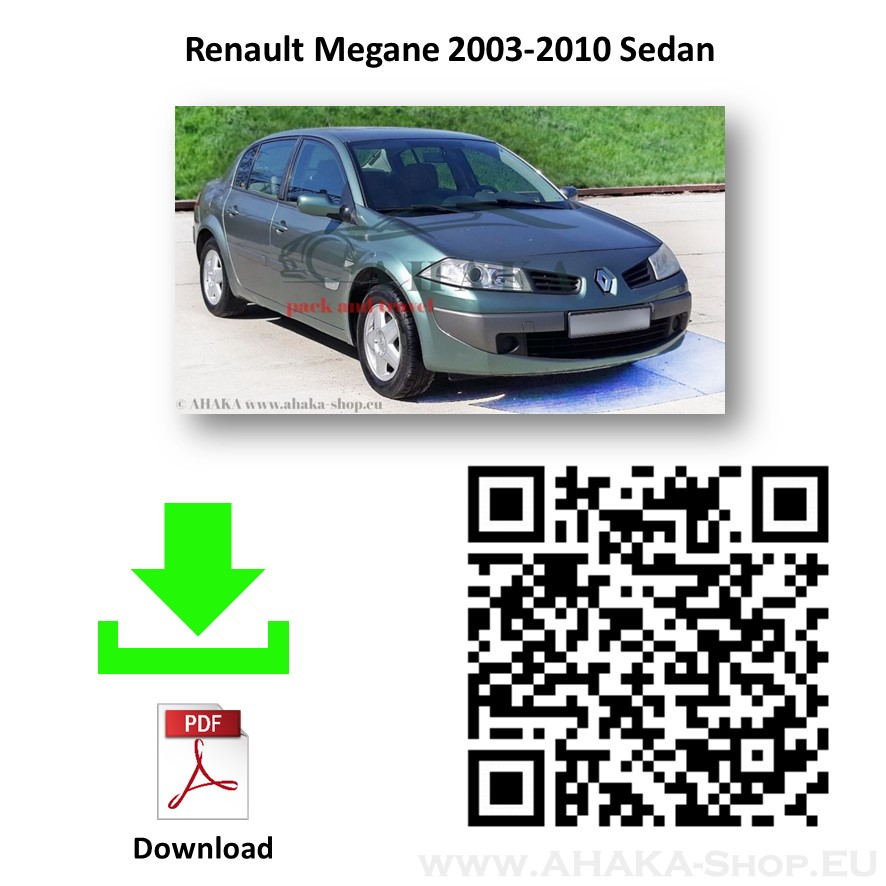 Anhängerkupplung für Renault Megane II Stufenheck Bj. 2003 - 2012 - günstig online kaufen