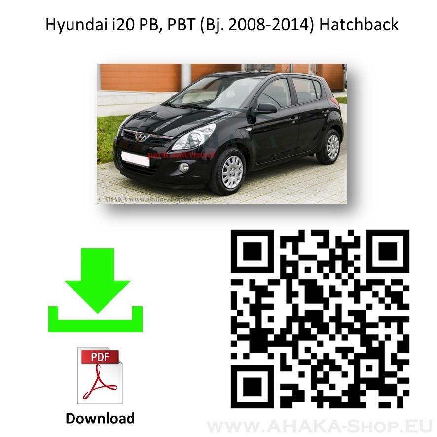 Anhängerkupplung für Hyundai i20 I Schrägheck Bj. 2009 - 2014 - günstig online kaufen
