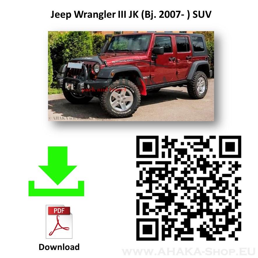 Anhängerkupplung für Jeep Wrangler JK Bj. 2007 - 2018 - günstig online kaufen