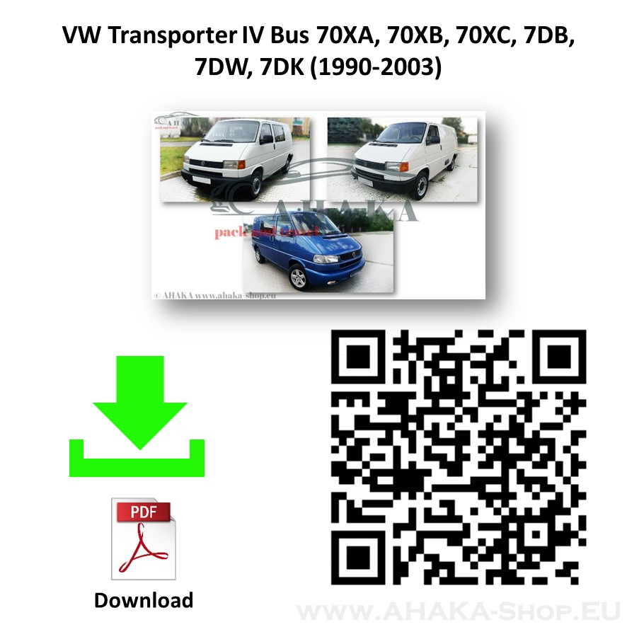 Anhängerkupplung für VW VOLKSWAGEN Transporter T4 Multivan, Caravelle Bj. ab 1996 - 2003 - günstig online kaufen