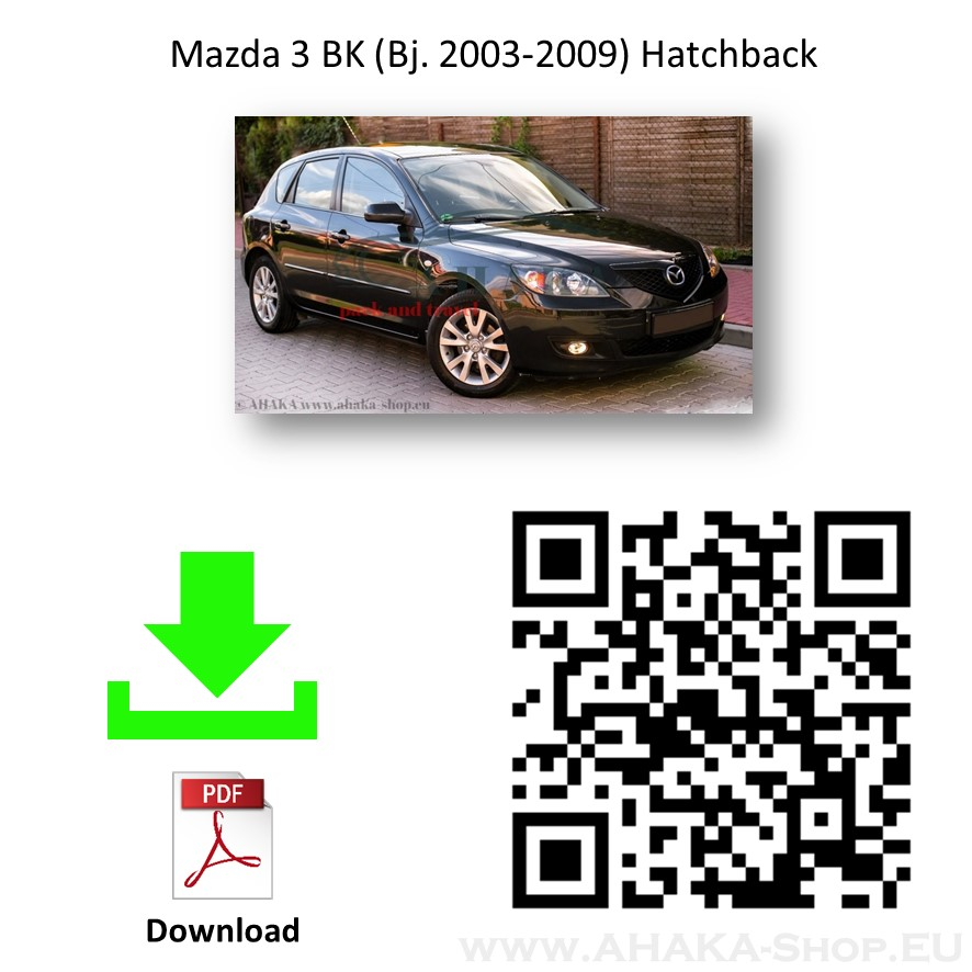 Anhängerkupplung für Mazda 3 Schrägheck, Stufenheck, Sport Active Bj. 2003 - 2013 - günstig online kaufen