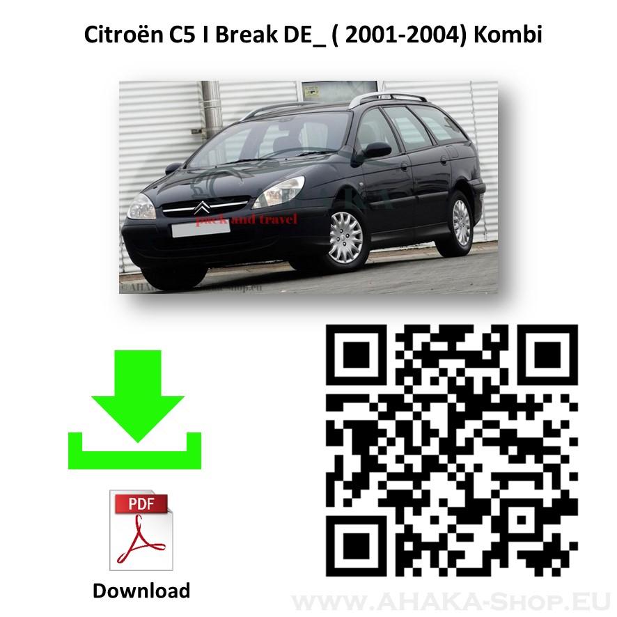Anhängerkupplung für Citroen C5 I Break Kombi Bj. 2001 - 2004 - günstig online kaufen