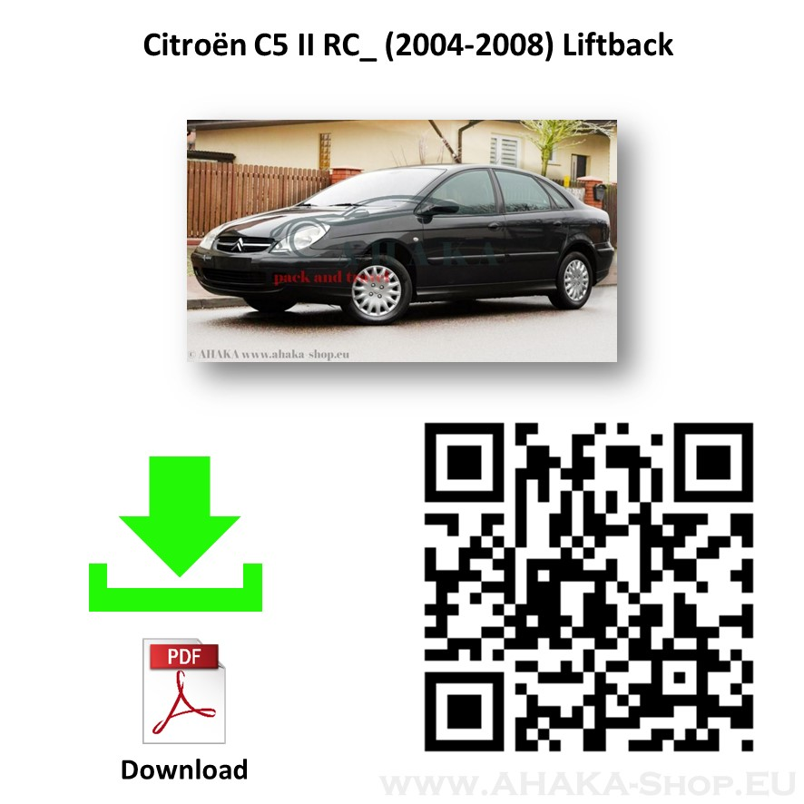 Anhängerkupplung für Citroen C5 I Stufenheck, Schrägheck Bj. 2004 - 2008 - günstig online kaufen
