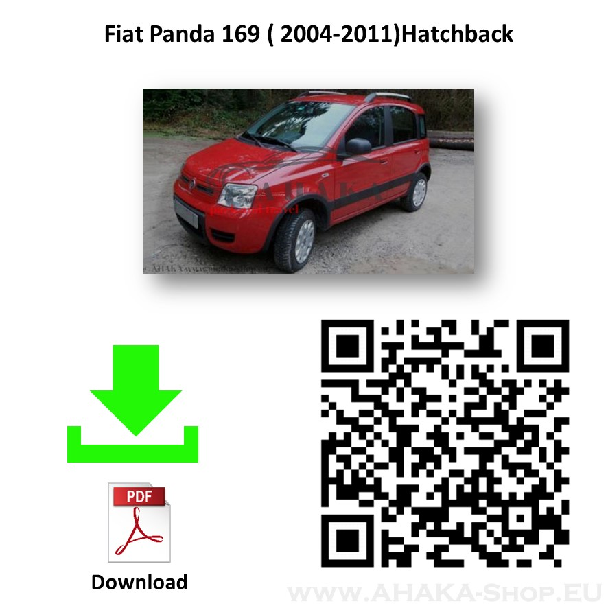 Anhängerkupplung für Fiat Panda II nur 4x4 Bj. 2004 - 2012 - günstig online kaufen