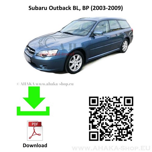 Anhängerkupplung für Subaru Legacy Outback Kombi Bj. 2003 - 2009 - günstig online kaufen