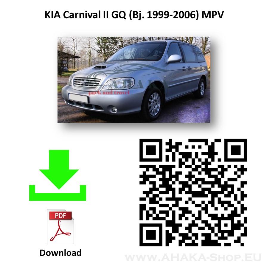 Anhängerkupplung für Kia Carnival GQ Bj. 2001 - 2006 - günstig online kaufen