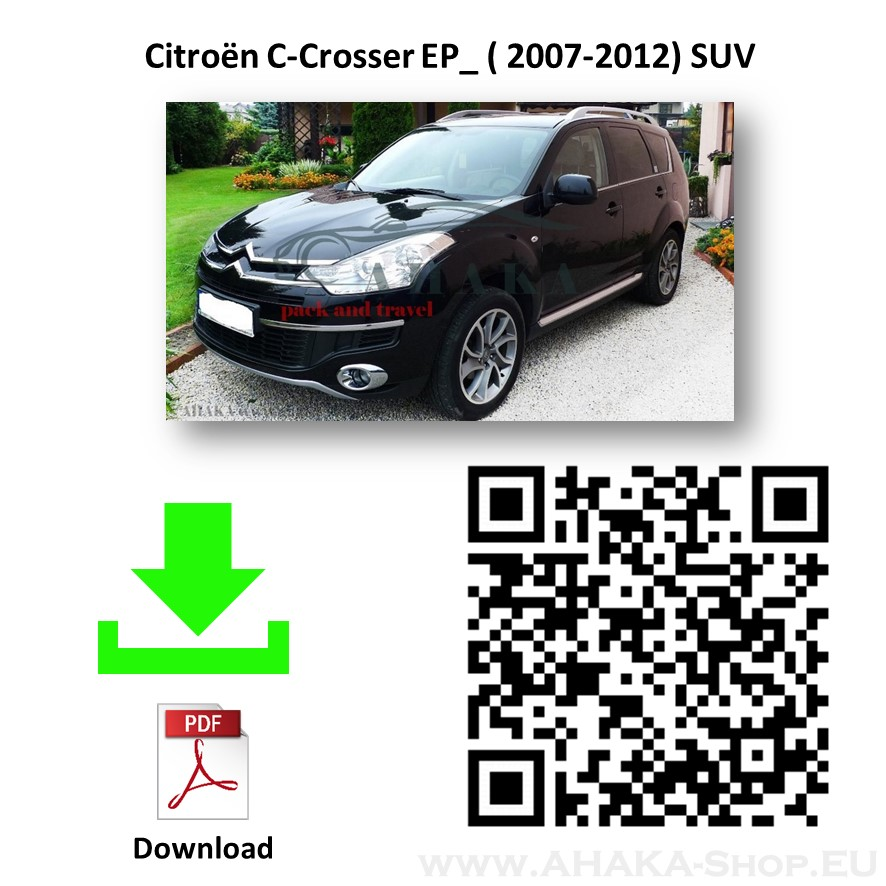 Anhängerkupplung für Citroen C-Crosser Bj. 2007 - 2012 - günstig online kaufen